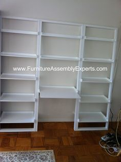 Leaning Ladder Bookshelf with Laptop Desk assembled in Washington DC by Furniture Assembly Experts Company
