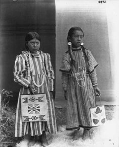 Colville girls named Looty Scra-scra and Annie Sam, Colville Indian Reservation, Washington, ca. 1900-1910. :: American Indians of the Pacif...