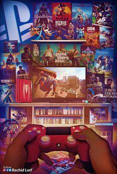 Ps Wallpaper, Game Wallpaper Iphone, Best Gaming Wallpapers, Dope Wallpapers, Simple Wallpapers, Classic Video Games, Retro Video Games, Video Game Rooms, Video Game Art