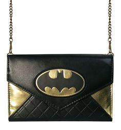 Batman Foil Envelope Wallet with Chain