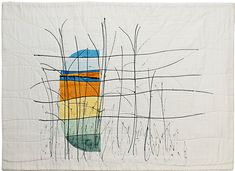 Coastal Study l by Cherry Vernon Harcourt.  Contemporary Quilt (UK).  2015 Festival of Quilts.