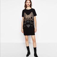 Zara Printed Rubberish Dress