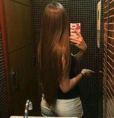 Long Hair by Hair Lover Long Dark Hair, Very Long Hair, Beautiful Long Hair, Gorgeous Hair, Straight Hairstyles, Pretty Hairstyles, Dream Hair, Shiny Hair, Stylish Hair