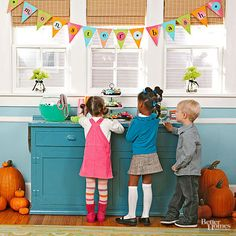 The monsters at this Halloween party are definitely more friendly than frightening. Fun treats, cute decorations, and simple activities make it the perfect party theme for younger kids./