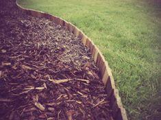 Pallet lawn edging Wood Garden Edging, Lawn Edging, Lawn And Garden, Recycled Pallets, Wood Pallets, Pallet Wood, Pallet Ideas, Garden Shower, Lawn Maintenance