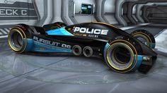 Autonomous Pursuit Vehicle equipped with EMP. Concept Car Design