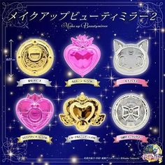 Sailor Moon #Gashapon Compact Makeup Beauty Mirror 2 Complete 6 set http://ebay.to/27teonf