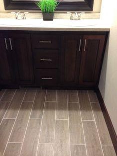 20 Dark Wood Floors Ideas Designing Your Home (DIY) 2019 Bathroom Floor The post 20 Dark Wood Floors Ideas Designing Your Home (DIY) 2019 appeared first on Bathroom Diy. Upstairs Bathrooms, Downstairs Bathroom, Bathroom Renos, Small Bathroom, Bathroom Cabinetry, Dream Bathrooms, Bathroom Ideas, Dark Wood Bathroom, Bathroom Floor Tiles
