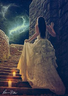Another fantasy picture of a woman dressed in a Gotic style dress...