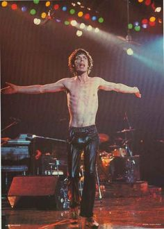 He's Please to Meet You...can you guess his name? Mick Jagger of the Rolling Stones live in the 80's! Published in 1981. Ships fast. 24x33 inches. Get some Satisfaction - check out the rest of our ama