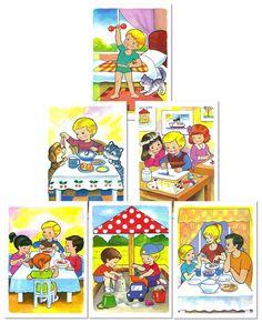 Hra do školy: Obrázky na detských tried. Denná rutina v materskej škole