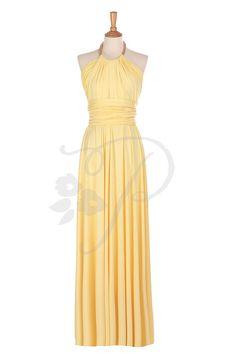 Bridesmaid Dress Infinity Dress Sunshine Yellow by thepeppystudio