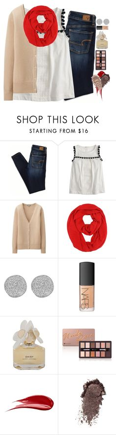 """""""because class isn't just something you attend"""" by emmig02 ❤ liked on Polyvore featuring American Eagle Outfitters, J.Crew, Uniqlo, Karen Kane, NARS Cosmetics, Marc by Marc Jacobs and Hourglass Cosmetics"""
