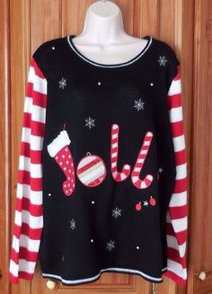 7d06e33146c Holiday Time Womens Plus 2x Jolly Ugly Christmas Sweater  HolidayTime   Pullover  Christmas