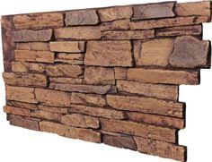 Fake Stone Panel - Ledgestone Tan - Siding Materials - Amazon.com