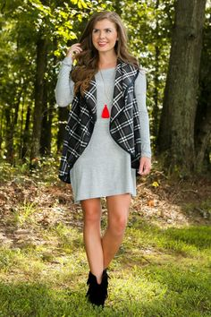 PIKO: Just About Anywhere Tunic-Grey - New Today | The Red Dress Boutique