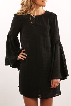 In Theory Dress Black