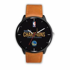 Golden State Warriors Watches For Women 2018 NBA Champions Leather Watches Styles) Golden State Warriors Gear, Nba Warriors, Luxury Watches, Rolex Watches, Watches For Men, 2018 Nba Champions, Nba T Shirts, Leather Watches, Free Shipping