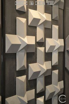 C-More : High-lights Maison et Objet 2013 part 2 | Wall covering | Concrete wall ornaments By Taporo