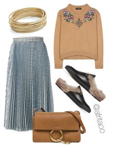 """""""Sin título #367"""" by afritaoo on Polyvore featuring Dolce&Gabbana, MSGM, Design Lab, Gucci y Chloé"""