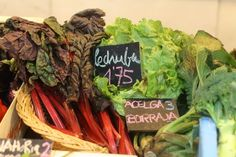 No attempt to head off thebeaten path in Madrid would be complete without a trip to a market like San Fernando, with produce like this delicious rhubarb and lettuce