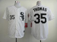 fa4e18d6 Men's MLB Chicago White Sox #35 Thomas White Black Strip Cool Base Nhl  Jerseys,