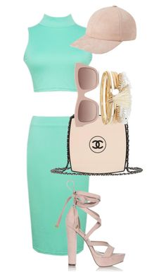 """""""Mint and blush pink"""" by chloe-ashforth on Polyvore featuring Chanel, River Island and STELLA McCARTNEY"""