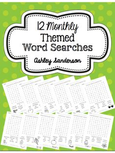 WORD SEARCH FREEBIE~  Perfect for 1st - 3rd grade students!