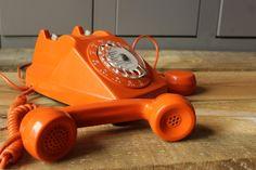 Téléphone SOCOTEL orange - 1970 - Vintage by fabichka