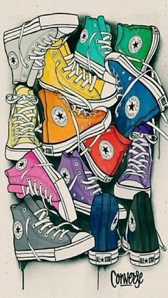Imagen de converse, colors, and background