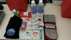 Gift bag for the homeless. Add a breakable hand-warmer and an inexpensive reusable water bottle.  Think the whole thing should come in under $15.   -  winter gloves - 1 pair thermal socks - 3 protein bars - 2 (16oz) bottles of water - 1 bottle of hand sanitzer - 1 packet (20 wipes) antibacterial wipes - 1 (4-pack) Crest Wisps - 3 mint Lifesavers - 1 pack gum - 1 container chapstick - 1 packet (2 pills) allergy pills - 2 packets (2 pills) Advil Homeless Bags, Homeless Care Package, Blessing Bags, How To Be Graceful, Love Box, Operation Christmas Child, Helping The Homeless, Life Savers, Hand Warmers