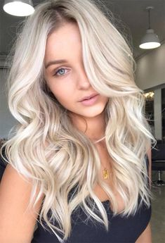59 Icy Platinum Blonde Hair Ideas: Platinum Hair Color Shades to Inspire ideas styles 59 Icy Platinum Blonde Hair Color Shades Blonde Hair Colour Shades, Platinum Blonde Hair Color, Blonde Hair Looks, Light Blonde Hair, Honey Blonde Hair, Blone Hair, Light Blonde Balayage, Platinum Blonde Balayage, White Blonde Hair