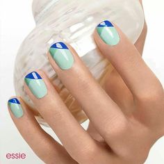 Criss cross french mani