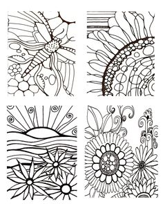Download PrintableAdult Coloring Pages Coloring Book  hand drawn pages by Robin Mead, printables flower leaves vines. $3.00, via Etsy.