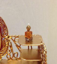 Patsy-Mac Dolls House Dollhouse Miniature Topaz Swarovski Crystal Perfume Bottle