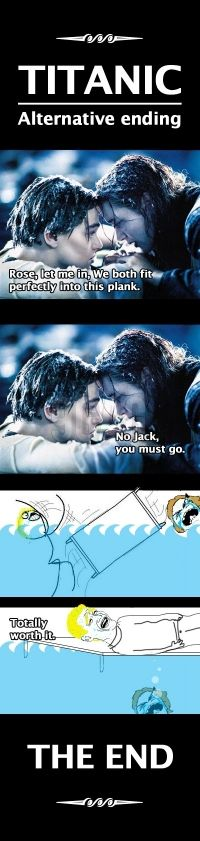 TITANIC: Alternative ending rofl. HAHAHAHA