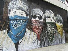 The Beatles, Street art by Mr Brainwash
