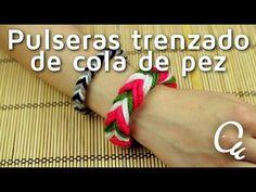 Cómo hacer pulseras con trenzado cola de pez | facilisimo.com Beaded Bracelets, Fishtail, Braided Bracelets, Easy Crafts, Knots, Tejido, Accessories
