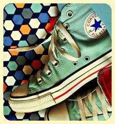 retro blue converse