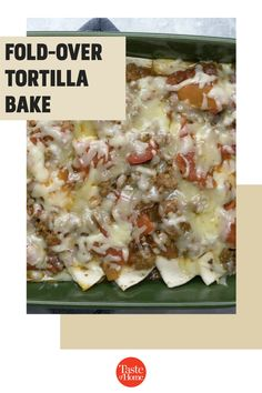 Here's something a little different to shake up taco night. But don't reserve this zippy dish for a weeknight—it's perfect for potlucks and serving company, too. something a little different from the usual tacos. It's special enough for potlucks or dinner guests. —Deborah Smith, DeWitt, Nebraska Tortilla Bake, Stewed Tomatoes, Enchilada Sauce, Potlucks, Nebraska, Casserole Recipes, Ground Beef, Casseroles, Shake