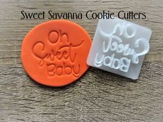 Custom Cookie Cutters Cake Decorating Fondant THANK YOU Embosser 40mm