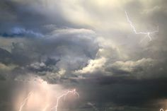 """""""Can you lift up your voice to the clouds, that a flood of waters may cover you?  Can you send forth lightnings, that they may go and say to you, 'Here we are'?  (Job 38:34-35 ESV)"""
