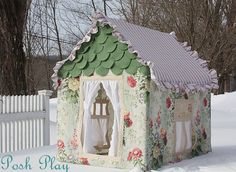 Playhouse! Could be a pretty great DIY - it's just fabric and a frame.
