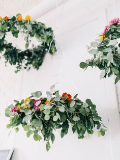 DIY floral chandeleirs