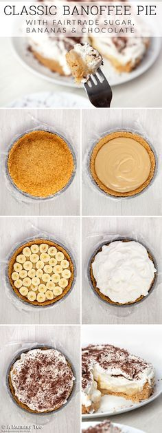 Step by step guide to making sweet and fresh banoffee pie, generously topped with whipped cream!
