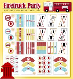 Peonies and Poppyseeds: Firetruck Birthday Party