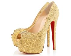 "Christian Louboutin's Crystal Embellished 6.5 Inch ""Highness"" Pumps $6,395"