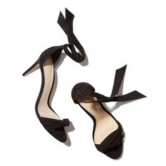 These supple black-suede stilettos have self-tie bows at the ankle and the toe, for a vibe that balances perfectly between delicately feminine and...