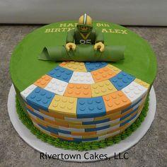 Lego theme birthday cake