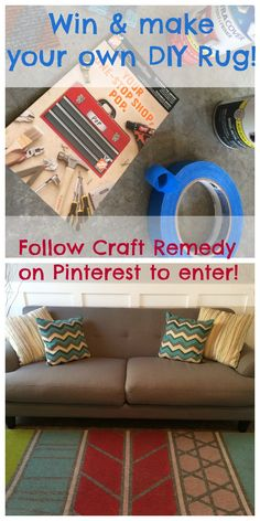 Home Depot Giveaway +DIY rug tutorial! Craft Remedy
